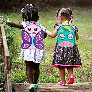 "Toddler Backpack Leash, 9.5"" Safety Harness Unicorn Bag - Removable Tether"