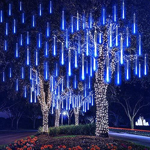 HMLIGHT Neujahr 30cm Außenmeteorschauer Regen 10 Tubes LED-Schnur-Licht-wasserdicht für Weihnachten Hochzeit Dekoration,Blau,110V