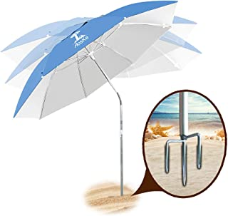 AosKe Patio Umbrella Beach Umbrella Sports Umbrella Portable Sun Shade Umbrella Inclined Heat Insulation Antiultraviolet SPF 50+ Sky Blue