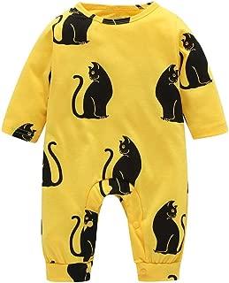 SERAPHY Abbigliamento per Neonati Unisex Baby Pagliaccetti Monopezzo in Cotone 100/% Tute Traspiranti Body a Maniche Lunghe per Neonato