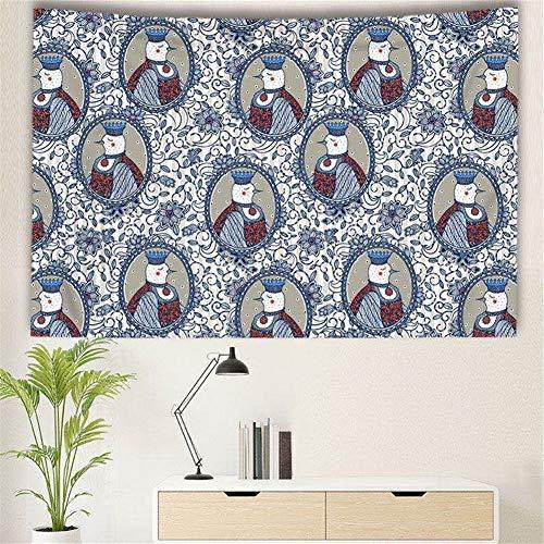 THEYANG Tapestry Tapiz Pared Decoracion Serie Mandala(Pájaro 201) 150x200cm Colgante de Pared Ropa de Cama Dormitorio Decoración Estera de Yoga Alfombras Manta de Playa Tarot Hippie Indio Boho