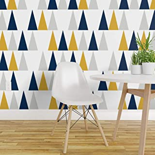 Spoonflower Peel and Stick Removable Wallpaper, Arrows Triangles Geometric Chevron Modern Nursery Gender Neutral Print, Self-Adhesive Wallpaper 12in x 24in Test Swatch