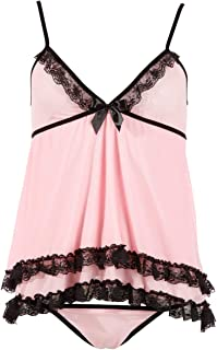 Cottelli Collection Babydoll-Set Rosa, Pink, Medium