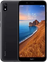 "Xiaomi Redmi 7A (32GB, 2GB RAM) 5.45"" Display, Face ID, Dual SIM GSM Factory Unlocked (US + Global 4G LTE International Model) (Black)"