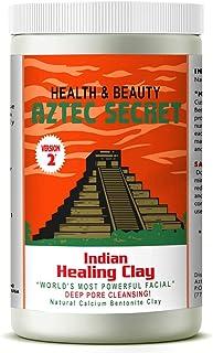 Best Aztec Secret - Indian Healing Clay - 2 lb. | Deep Pore Cleansing Facial & Body Mask | The Original 100% Natural Calcium Bentonite Clay – New! Version 2 Reviews