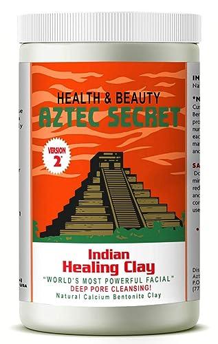 Aztec Secret - Indian Healing Clay - 2 lb.   Deep Pore Cleansing Facial & Body Mask   The Original 100% Natural Calcium Bentonite Clay – New! Version 2