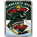 The Northwest Company NHL Minnesota Wild 'Home Ice Advantage' Woven Tapestry Throw Blanket, 48' x 60' , Green