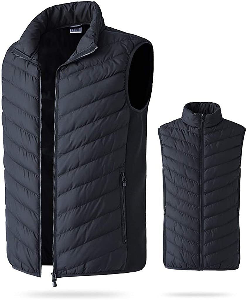 MODOQO Heated Vest Rechargeable Electric Vest for Men Outdoor Motorcycle,Hiking,Snowboating