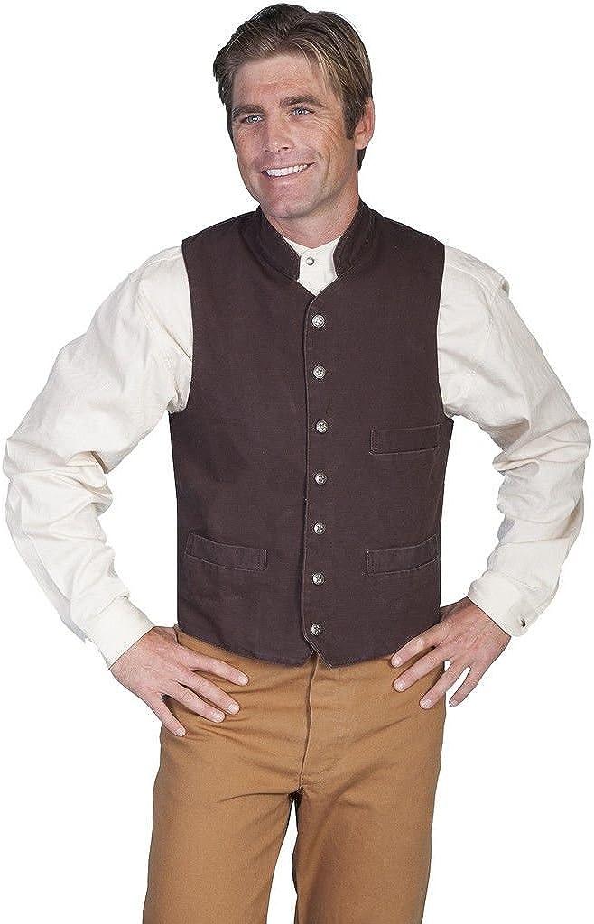 Scully Rangewear Men's Rangewear Standup Round Collar Vest Big and Tall - Rw149x Wal