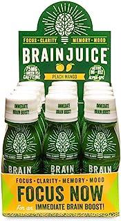 BrainJuice Brain Booster Shot, Original Peach Mango | Liquid Drink Supplement for Improved Energy, Memory, Focus, Clarity ...