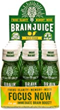 BrainJuice Brain Booster Shot, Original Peach Mango | Liquid Drink Supplement for Improved Energy, Memory, Focus, Clarity & Mood, Gluten-Free, Non-GMO | 2.5 fl oz, 12 Count
