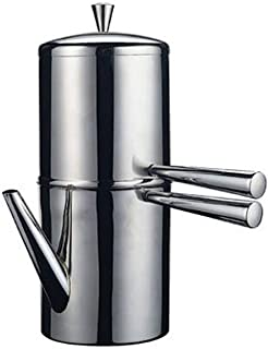 Ilsa Stainless Steel Neapolitan Drip Coffee Maker with Spout, 9 Cup