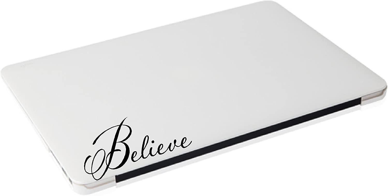 Laptop Sticker - Believe Religious Decal Outlet sale feature Funny Dallas Mall Matte Black Ski