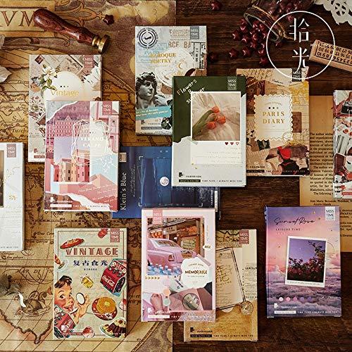 BLOUR 55 uds / 1 Lote Pegatinas de papelería Kawaii Diario de París Retro ins Diario Pegatinas Decorativas para móviles Scrapbooking DIY Pegatinas artesanales