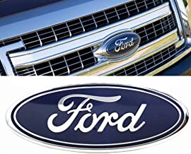 Oval Badge Emblem Blue//Silver Ford Front Grill Refit Accessories,Electroplated Logo for Fords Car Decorative Logo