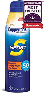 Coppertone SPORT Continuous Sunscreen Spray Broad Spectrum SPF 50 (5.5-Ounce)