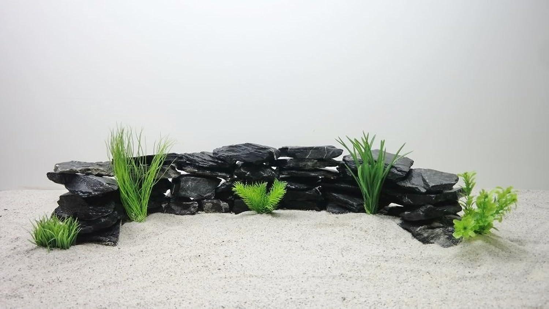 Decorative Aquarium Natural Stones in Black Approx. 40 Pieces No 65 20 kg