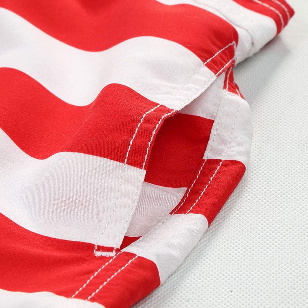 Kehen Little Boys Quick Dry Beach Board Shorts Kids USA Flags Print Swim Trunk Swimsuit Beach Shorts with Mesh Lining