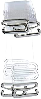 Glus Silicone Women Transparent Straps/Detachable Straps/Bra Straps/Clear Bra Strap/Removable Straps,Size: Free,Color- Transparent