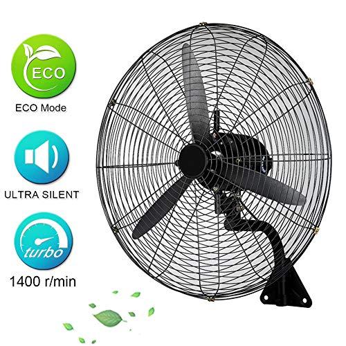 Ventilador Industrial De Pared,Grande Silencioso Ventilador Oscilante,3 Velocidades,Ventilador De Pared Negro para El Dormitorio Hogar Restaurante(55cm-78cm)