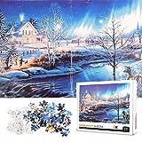 Colmanda Puzzle Classici 1000 Pezzi, Jigsaw Puzzle Colorati per Bambini, 70 * 50cm Classici Puzzle Creative Art Puzzle, Puzzle per Gioco Familiare/Bambini (Snow Aurora)