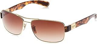 Men's RB3522 Square Metal Sunglasses