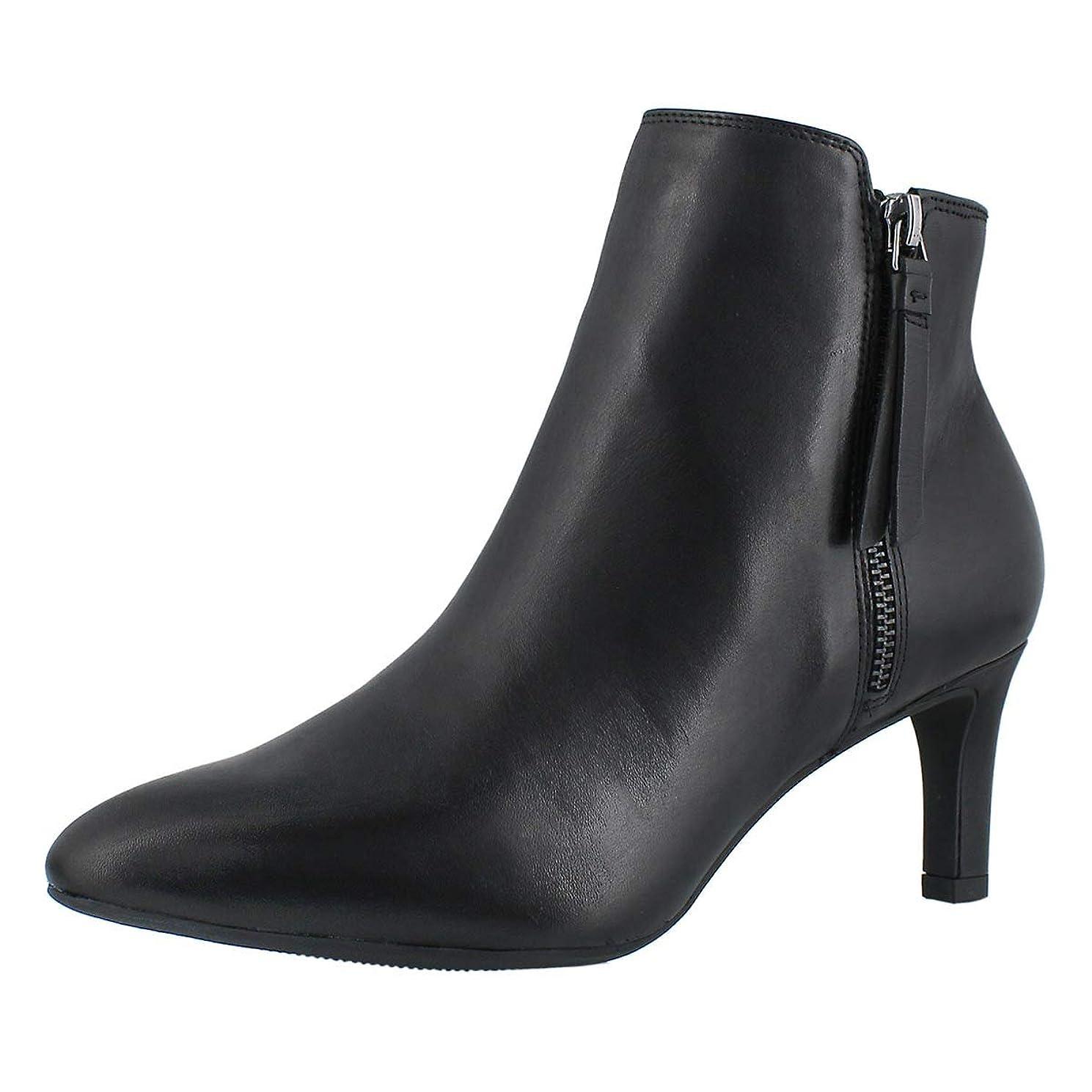 ダニメールを書く民族主義[クラークス] レディース 女性用 シューズ 靴 ブーツ アンクルブーツ ショート Calla Blossom - Black Leather [並行輸入品]