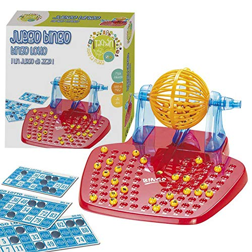 Tachan- Juego Bingo Lotto, Color Rojo/Amarillo/Azul (CPA Toy Group 10898)