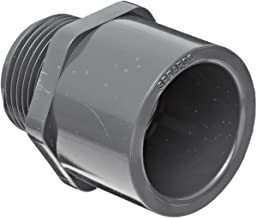 Spears 836 Series PVC Pipe Fitting, Adapter, Schedule 80, 1-1/2