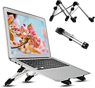ANBURT ノートパソコン スタンド PCスタンド 折りたたみ式 PCホルダー 高さ・角度調整可能 放熱 携帯便利 軽量 アルミ合金 PC/MacBook/ラップトップ/iPad/タブレット 15.6インチまで対応