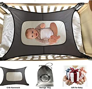 Baby Hammock for Crib Mimics Womb Newborn Bassinet Reduce Environmental Risk Associated with Early Infancy Baby Shower Gifts (Gray)