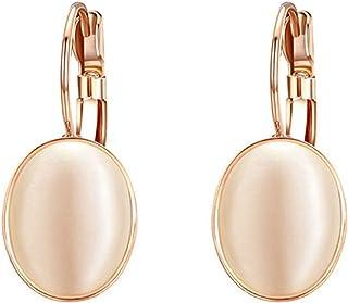 Yoursfs - Orecchini da donna con opale, placcati oro, orecchini per matrimonio