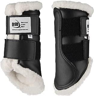 Dressage Sport Boot (DSB Horses, X-Large, Glossy White Flag, Pair