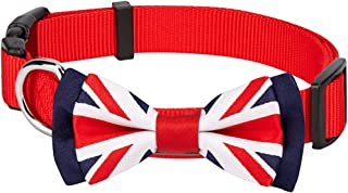 Blueberry Pet 9 Designs Patriotic Spirits Flags Collection - American Flag, UK, France Bowtie Collars/Bandanas