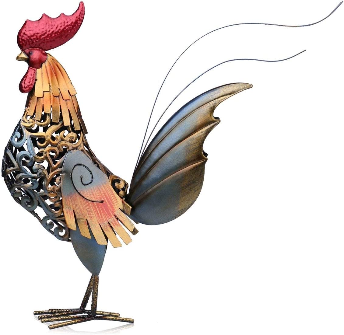 Kyydod Metal Figurine sold out Rooster mart Sculpture Home Carved Iron