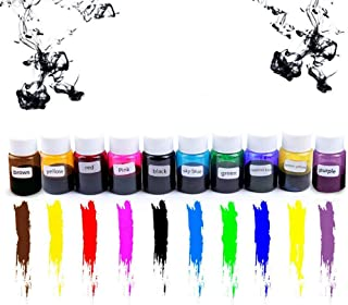 TotallyFashion 10 colores pegamento de cristal pigmento resina epoxi gotas de cristal DIY hecho a mano