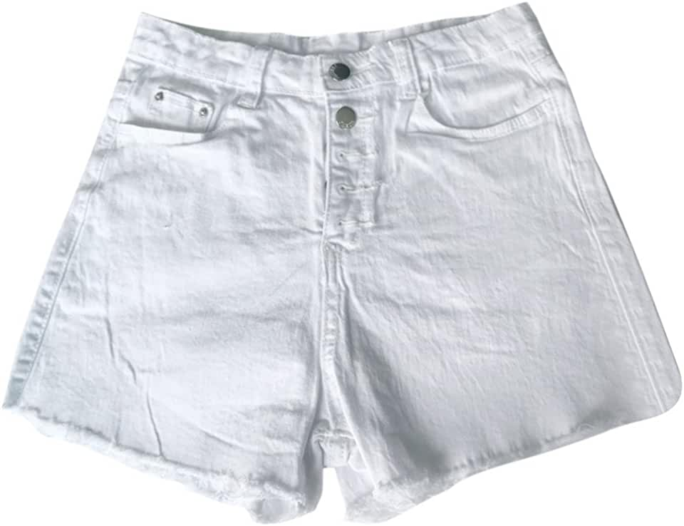 Women Hole Destroyed Ripped High Waist Jeans Denim Shorts Hot Pants