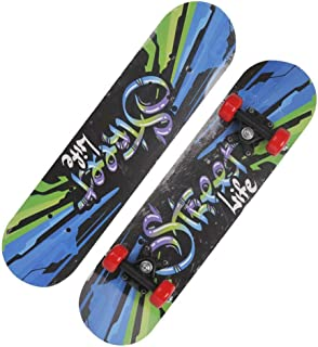 Mini Complete Skateboard-Beginner Skateboard 23.6 Inch Anime Cool Alphabet Pattern Children Skateboard Pop Skateboard