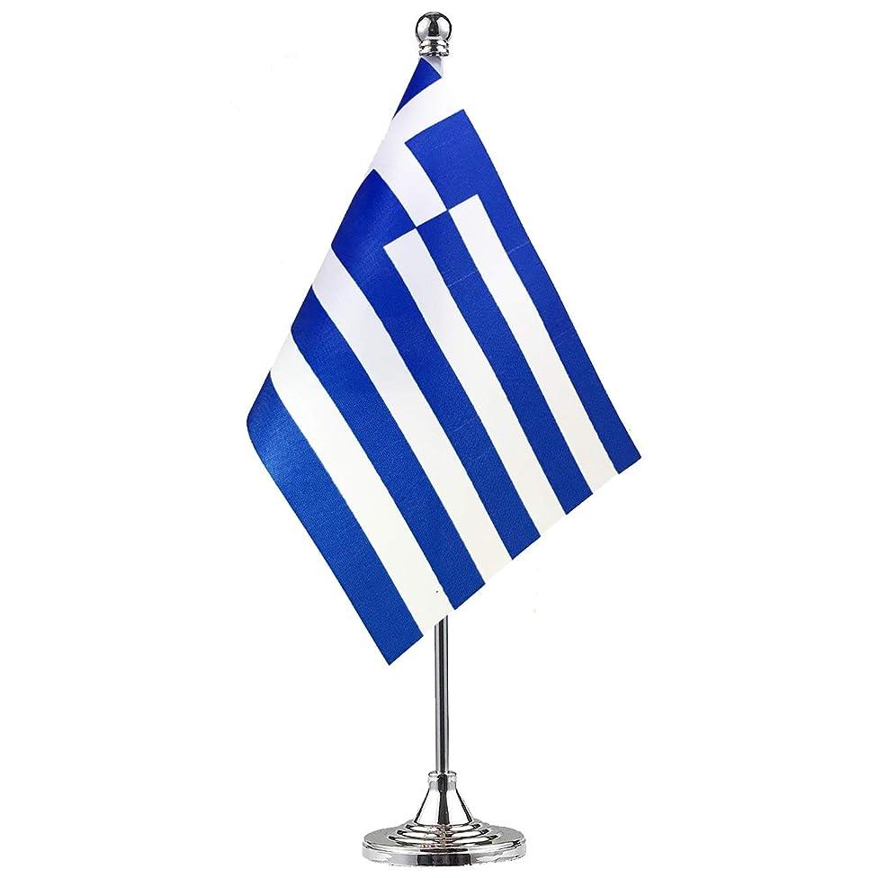 GentleGirl Greece Flag Greek Flag Table Flag,Desk Flag,Office Flag,International World Country Flags Banners,Festival Events Celebration,Office Decoration,Desk,Home Decoration