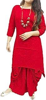 FEMEZONE DHOTI KURTA SET FOR WOMAN/GIRL (RED XL)