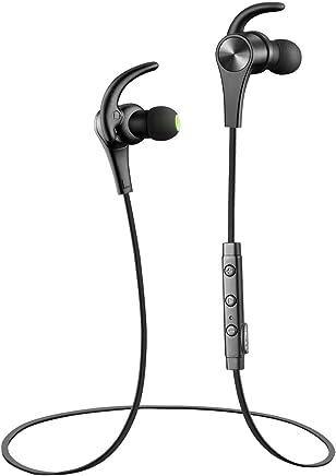 Q12 Bluetooth イヤホン SoundPEATS サウンドピーツ【メーカー直販/1年保証付】apt-Xコーデック採用 高音質 マグネット搭載 イヤーフック付き 外れにくい 防水防滴 スポーツ仕様 ブラック
