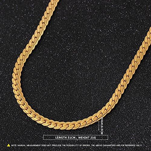 Alikeey Halsketting, voor mannen en vrouwen, met gouden bolletjes, gevuld