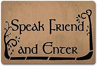ZQH Paillasson d'entrée avec inscription « Speak Friend and Enter » Le Seigneur des Anneaux (23,6 x 49,9 cm) en tissu non ...