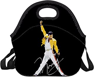 Freddie-Mercury Lunch Bag for Kids, Waterproof Insulated Lunch Tote with Zipper & Strap for School Work Outdoor