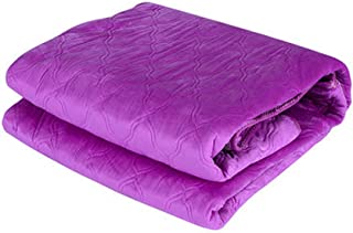Hanil Microfiber Purple Electric Heating Mat Electric Warming Mattress Pad With Temperature Controller Electric Blanket (110V Converter Is Included) (Single)
