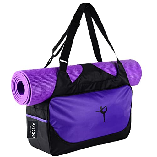3a0c6684bc Artone Water Resistant Oxford Sports Workout Yoga Mat Gym Bag Tote Carryall  Duffle Bags