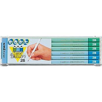 三菱鉛筆 かきかた鉛筆 ユニスター 三角軸 2B 青 1ダース US437