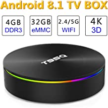 Android TV Box, EVANPO Android 8.1 TV Box 4GB /32GB Amlogic S905X2 Quad-core Cortex-A53 Bluetooth 4.1, 4K Resolution H.265 2.4GHz&5GHz Dual Band WiFi Smart Box Media Player Set Top Box