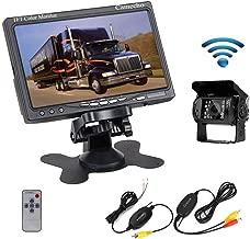 Camecho RC 12V 24V Car Backup Camera Rear View Wireless IR Night Vision Backup Camera Waterproof Kit + 7