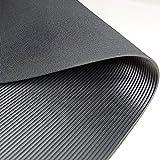 Feinriefenmatte Premium | weniger Gummigeruch | 1m² 1,2 x 0,83m [Größe wählbar] Stärke: 3mm | Farbe: Schwarz
